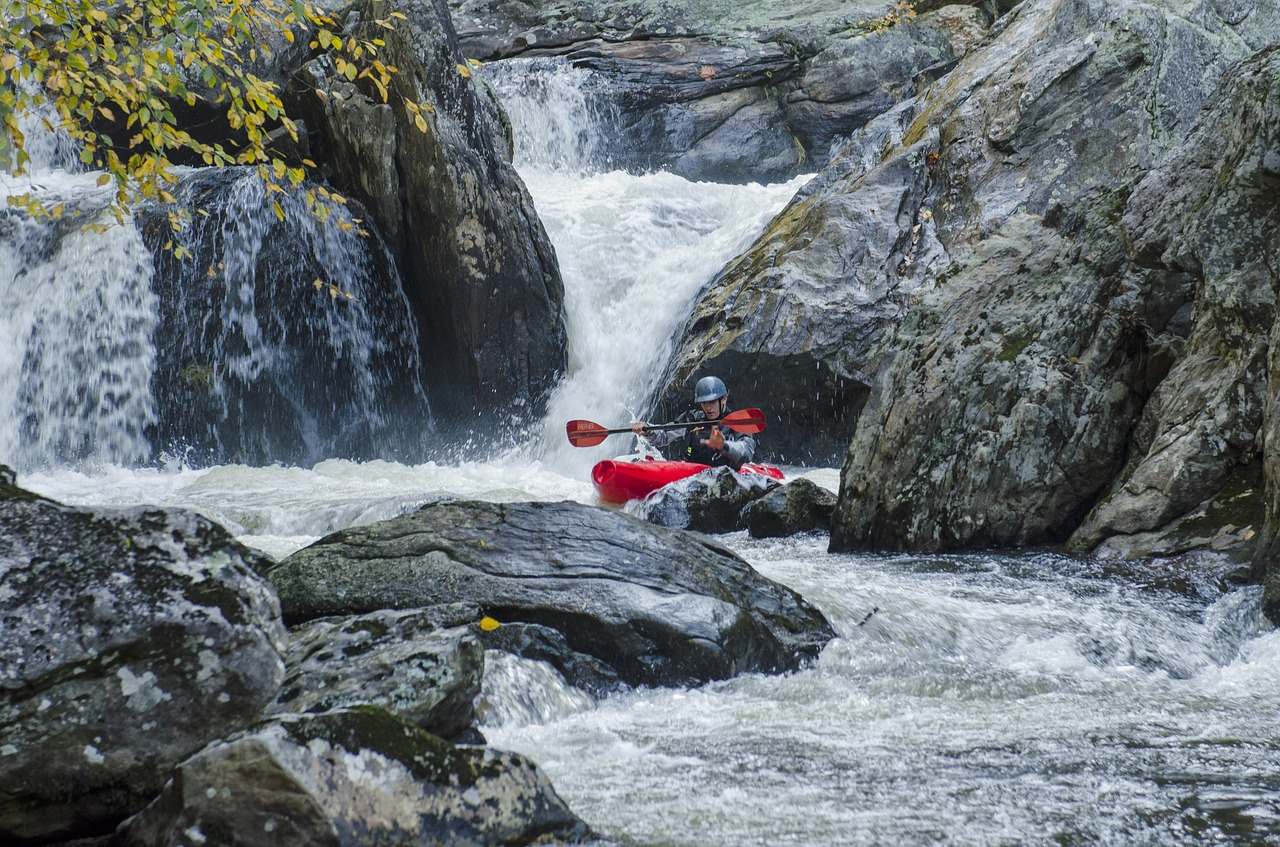 whitewater kayaking feature